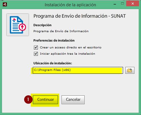 2.Instalación del programa de envío de información - PEI