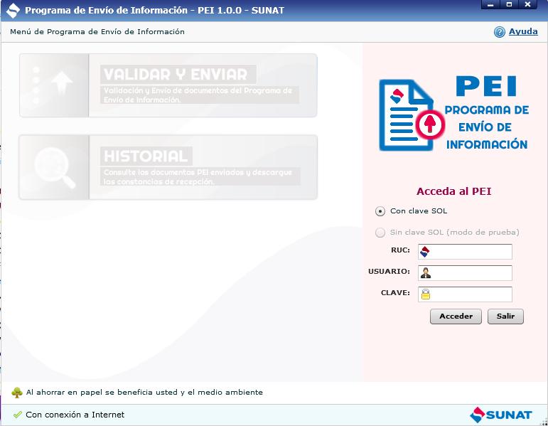 3.Instalación del programa de envío de información - PEI