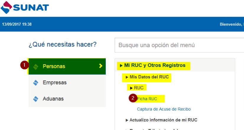 3 reporte certificado de tu Ficha RUC