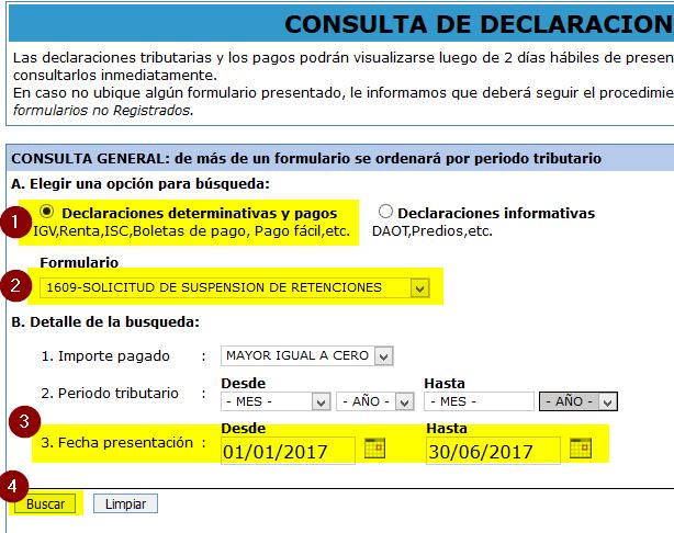 3.consulta del numero de orden de la suspension de retenciones