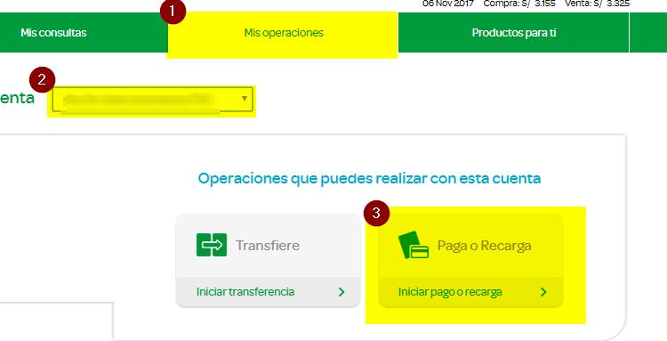 6. PAGO DE RECIBO DE LUZ POR INTERNET