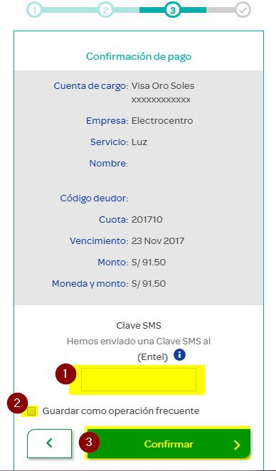 9. PAGO DE RECIBO DE LUZ POR INTERNET