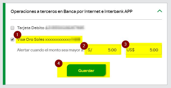 4.Seguridad tarjeta de credito Interbank